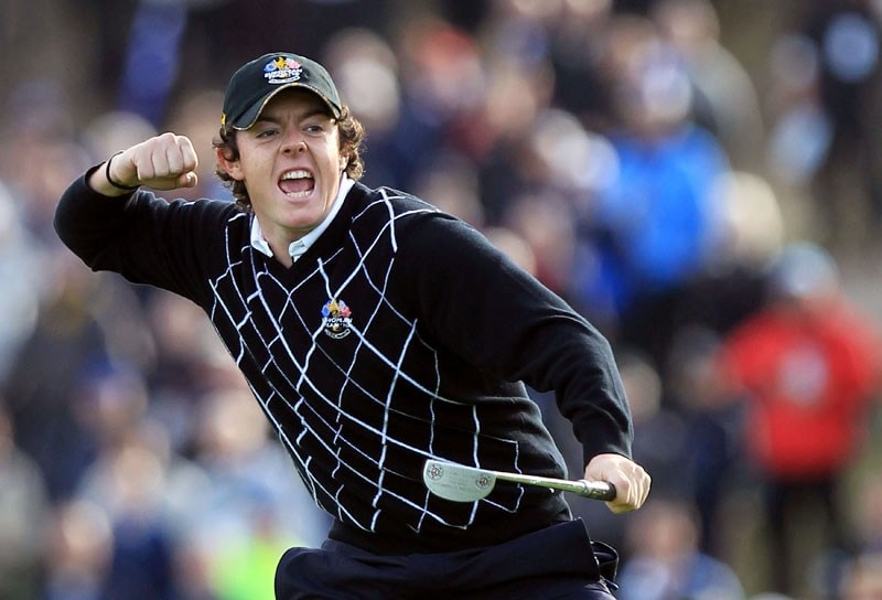 Rory McIlroy at the 2010 Ryder Cup