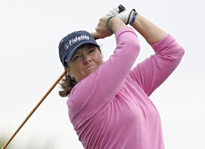 Meg Mallon during second round action at the Kraft Nabisco Championship at The Mission Hills Country Club in Rancho Mirage, California on Friday, March 31, 2006.Photo by Steve Levin/WireImage.com