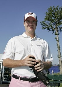 Joe Ogilvie shows his support wearing a Virginia Tech cap during the third round of the Zurich Classic of New Orleans held at TPC Louisiana in New Orleans, Louisiana, on April 21, 2007. Photo by: Stan Badz/PGA TOURPhoto by: Stan Badz/PGA TOUR