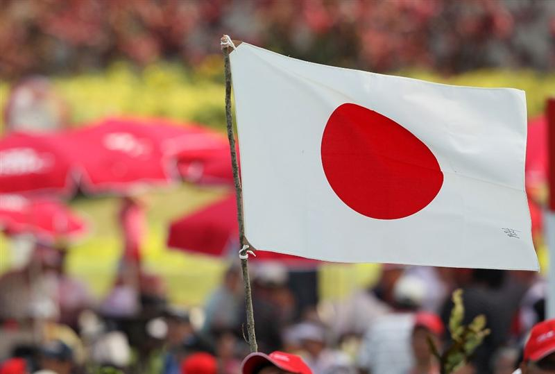 SINGAPORE - FEBRUARY 28:  A Japanese flag is displayed after Ai Miyazato won the HSBC Women's Champions at Tanah Merah Country Club on February 28, 2010 in Singapore, Singapore.  (Photo by Andy Lyons/Getty Images)