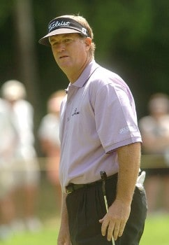 Peter Jacobsen in action during the first round of the 2005 Boeing Greater Seattle Classic at TPC Snoqualmie in Snoqualmie, Washington August 19, 2005.Photo by Steve Grayson/WireImage.com