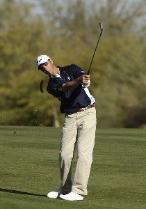 Jeff Brehaut in action during the third  round of the FBR Open  at the TPC Players Course  on Photo by Marc Feldman/WireImage.com