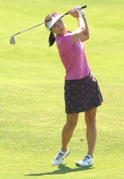 Grace Park in action during the first round of the 2005 Office Depot Championship at Trump National Golf Club Los Angeles in Rancho Palos Verdes, California September 30, 2005.