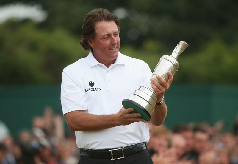 Phil Mickelson after winning the 2013 British Open.