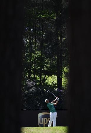 VIRGINIA WATER, ENGLAND - MAY 22:  Matteo Manassero of Italy plays a tee shot during the third round of the BMW PGA Championship on the West Course at Wentworth on May 22, 2010 in Virginia Water, England.  (Photo by Ross Kinnaird/Getty Images)