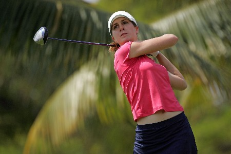 KAPOLEI, HI - FEBRUARY 22:  Sandra Gal of Germany hits her tee shot on the 2nd hole during the second round of  the Fields Open on February 22, 2008  at the Ko Olina Golf Club in Kapolei, Hawaii.  (Photo by Andy Lyons/Getty Images)
