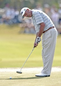 Mark James during the first round of the Champions Tour ACE Group Classic at The Club at TwinEagles on Friday, February 17, 2006, in Naples, Florida.Photo by Grant Halverson/WireImage.com