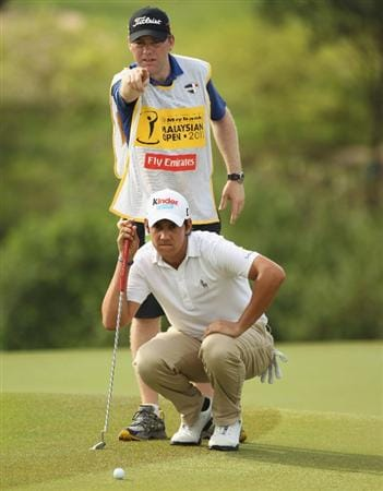 KUALA LUMPUR, MALAYSIA - APRIL 16:  Matteo Manassero of Italy looks on during day three of the Maybank Malaysian Open at Kuala Lumpur Golf & Country Club on April 16, 2011 in Kuala Lumpur, Malaysia.  (Photo by Ian Walton/Getty Images)