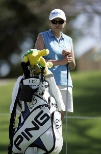 Dorothy Delasin on the seventh tee during the Pro AM at the Fields Open in Hawaii golf tournament Feb. 22, 2006 at the Ko Olina Resort Golf Club in Kapolei, on the island of Oahu, Hawaii.Photo by Marco Garcia/WireImage.com