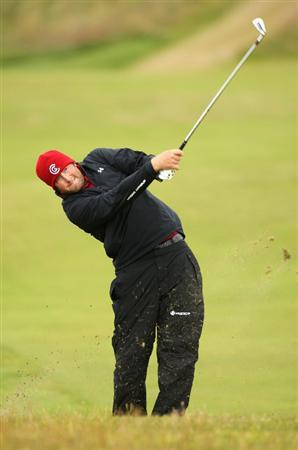 TURNBERRY, SCOTLAND - JULY 17:  Steve Marino of USA hits an approach during round two of the 138th Open Championship on the Ailsa Course, Turnberry Golf Club on July 17, 2009 in Turnberry, Scotland.  (Photo by Ross Kinnaird/Getty Images)