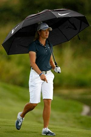 NORTH PLAINS, OR - AUGUST 29: Suzann Pettersen walks up the 9th fairway during the second round of the Safeway Classic on August 29, 2009 on the Ghost Creek course at Pumpkin Ridge in North Plains, Oregon. (Photo by Jonathan Ferrey/Getty Images)
