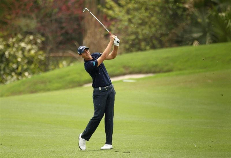 CHENGDU, CHINA - APRIL 22:  Nicolas Colsaerts of Belgium in action during day two of the Volvo China Open at Luxehills Country Club on April 22, 2011 in Chengdu, China.  (Photo by Ian Walton/Getty Images)
