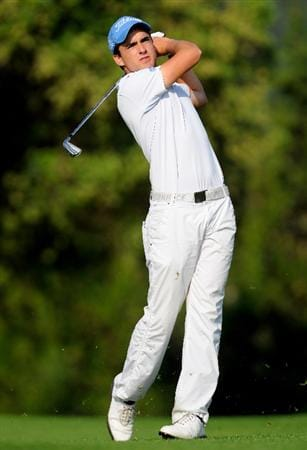 MALLORCA, SPAIN - MAY 13:  Jesus Legarrea of Spain plays his approach shot on the 12th hole during the first round of the Open Cala Millor Mallorca at Pula golf club on May 13, 2010 in Mallorca, Spain.  (Photo by Stuart Franklin/Getty Images)