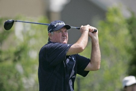 Allen Doyle hits a drive during the final round of the Bayer Advantage Classic held at LionsGate Golf Course in Overland Park, KS. on June 12, 2005.Photo by G. Newman Lowrance/WireImage.com