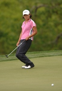 Kim Saiki in action during the first round of the LPGA's 2006 Michelob ULTRA Open at Kingsmill, at the Kingsmill Resort and Spa River Course in Williamsburg, Virginia on May 11, 2006.Photo by Steve Grayson/WireImage.com
