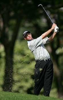 HONOLULU - JANUARY 13: Doug LaBelle II hits his second shot on the eighth hole during the final round of the Sony Open at the Waialae Country Club January 13, 2008 in Honolulu, Oahu, Hawaii.  (Photo by Jonathan Ferrey/Getty Images)