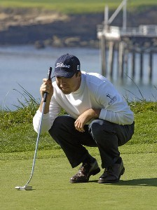Arron Oberholser during the third round of the  AT&T Pebble Beach National Pro-Am on Pebble Beach Golf Links in Pebble Beach, California on February 11, 2006.