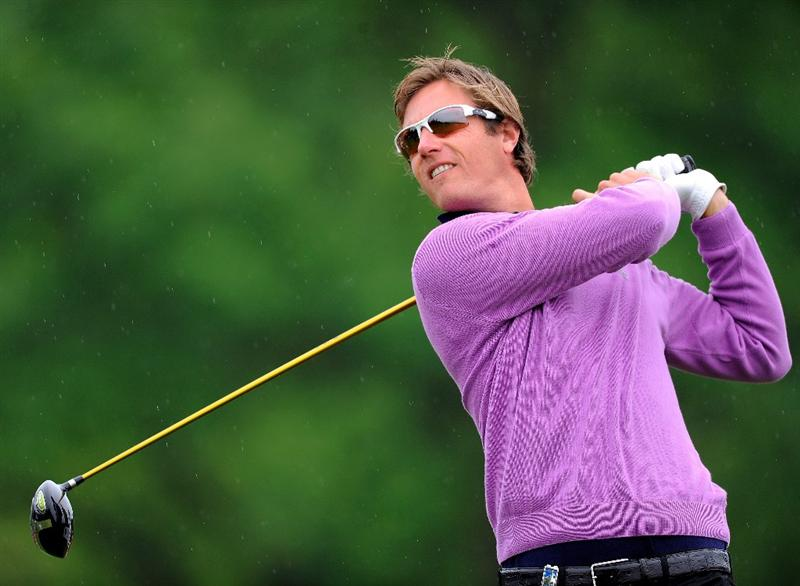 TURIN, ITALY - MAY 09:  Nicolas Colsaerts of Belgium plays his tee shot on the 17th hole during the final round of the BMW Italian Open at Royal Park I Roveri on May 9, 2010 in Turin, Italy.  (Photo by Stuart Franklin/Getty Images)