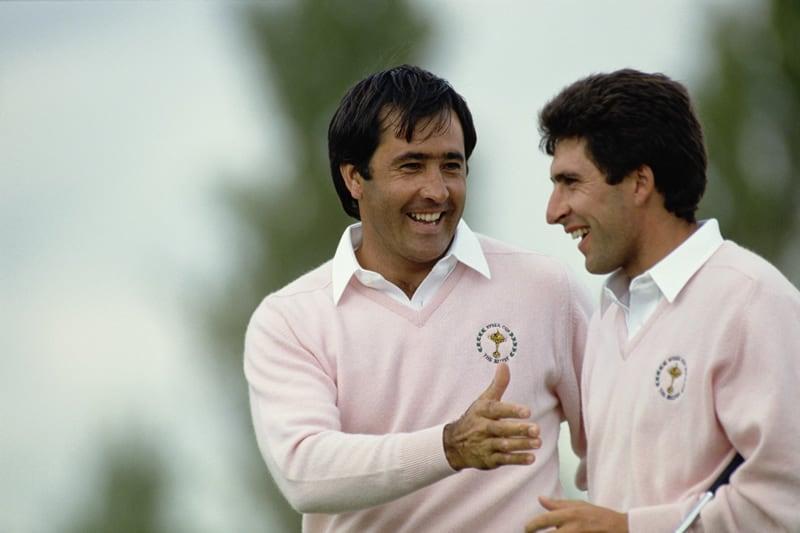Seve Ballesteros and Jose Maria Olazabal