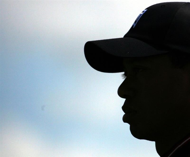 ORLANDO, FL - MARCH 17:  Tiger Woods walks off after teeing off on the second hole at the Tavistock Cup on March 17, 2009 at Lake Nona Country Club in Orlando, Florida.  (Photo by Marc Serota/Getty Images)