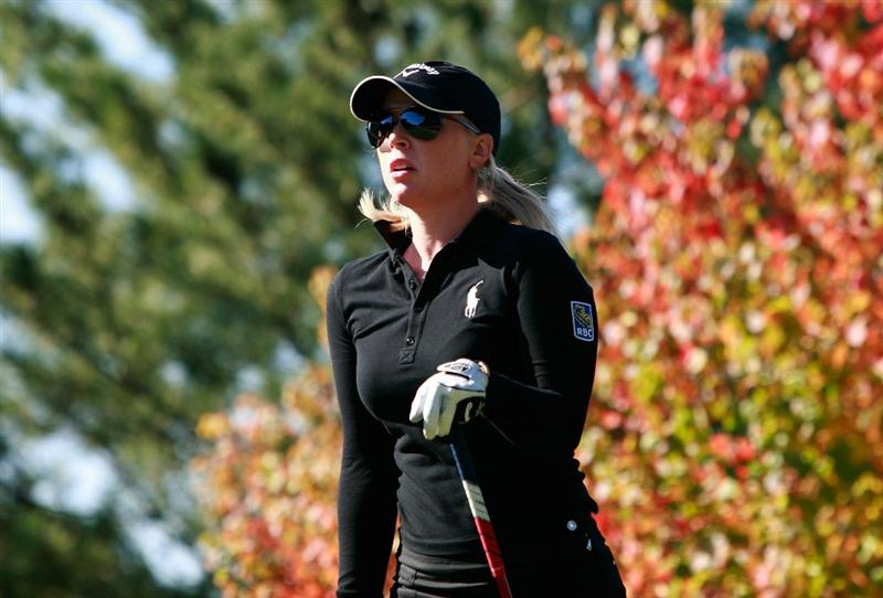 SHIMA, JAPAN - NOVEMBER 05:  Morgan Pressel of the United States on the 2nd hole during round one of the Mizuno Classic at Kintetsu Kashikojima Country Club on November 5, 2010 in Shima, Japan.  (Photo by Chung Sung-Jun/Getty Images)