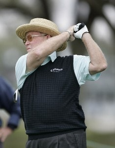Bob Murphy hits his tee shot on the 11th hole during the first round of the Outback Steakhouse Pro-Am at the TPC of Tampa. Friday, February 24th, 2006Photo by Hunter Martin/WireImage.com