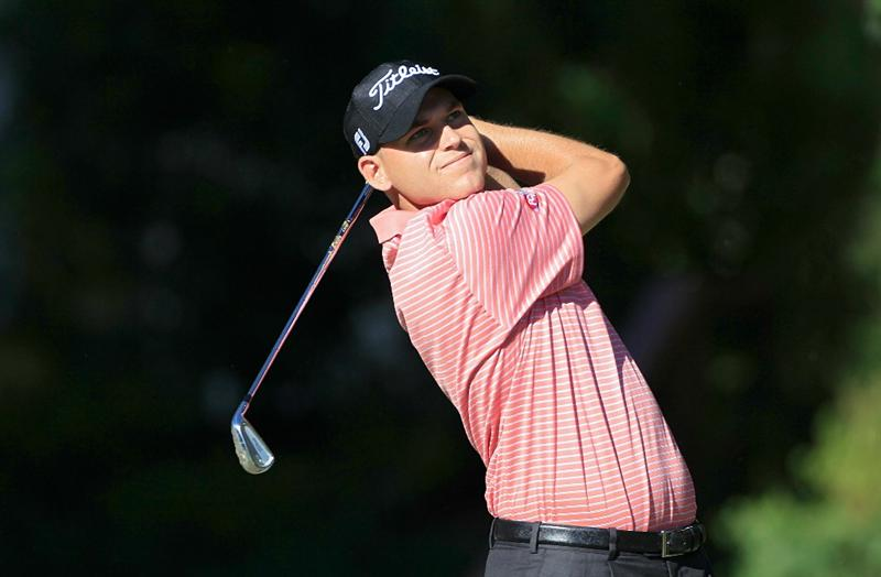 MADISON, MS - OCTOBER 01: Bill Haas hits a shot during the second round of the Viking Classic held at Annandale Golf Club on October 1, 2010 in Madison, Mississippi.  (Photo by Michael Cohen/Getty Images)