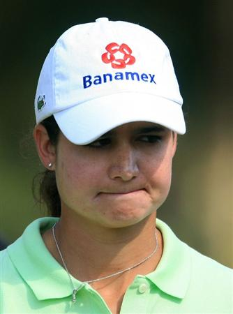 WEST PALM BEACH, FL - NOVEMBER 21:  Lorena Ochoa of Mexico walks to the ninth tee during the second round of the ADT Championship at the Trump International Golf Club on November 21, 2008 in West Palm Beach, Florida.  (Photo by Scott Halleran/Getty Images)