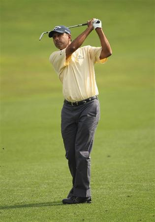 CHENGDU, CHINA - APRIL 22:  Jeev Milkha Singh of India in action during day two of the Volvo China Open at Luxehills Country Club on April 22, 2011 in Chengdu, China.  (Photo by Ian Walton/Getty Images)