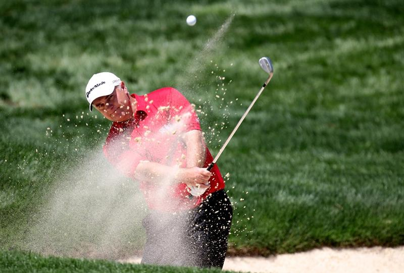 SEVILLE, SPAIN - APRIL 29: Stephen Dodd of Wales on the par four 18th hole during the first round of the Open de Espana at the Real Club de Golf de Seville on April 29, 2010 in Seville, Spain.  (Photo by Ross Kinnaird/Getty Images)