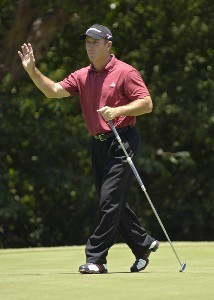 Peter Lonard during the third round of the Bank of America Colonial held at the Colonial Country Club on Saturday , May 20, 2006 in Ft. Worth, TexasPhoto by Marc Feldman/WireImage.com