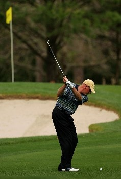 PALM HARBOR, FL - MARCH 7:  Frank Lickliter II hits a shot on the sixth hole during the second round of the PODS Championship at Innisbrook Resort and Golf Club March 7, 2008 in Palm Harbor, Florida.  (Photo by Sam Greenwood/Getty Images)