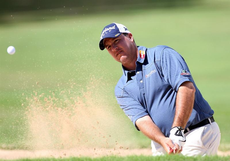 HONOLULU - JANUARY 15:  Boo Weekley plays a shot from the bunker on the 9th hole during the first round of the Sony Open at Waialae Country Club on January 15, 2009 in Honolulu, Hawaii.  (Photo by Sam Greenwood/Getty Images)