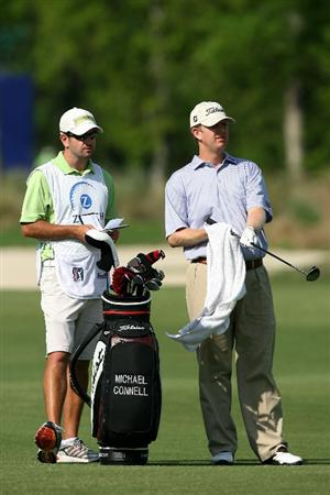 AVONDALE, LA - APRIL 22:  Michael Connell pulls a club from his bag on the 11th fairway during the first round of the Zurich Classic at TPC Louisiana on April 22, 2010 in Avondale, Louisiana.  (Photo by Chris Trotman/Getty Images)