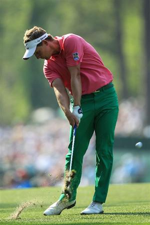 AUGUSTA, GA - APRIL 09:  Luke Donald of England hits his second shot on the 17th hole during the third round of the 2011 Masters Tournament at Augusta National Golf Club on April 9, 2011 in Augusta, Georgia.  (Photo by David Cannon/Getty Images)