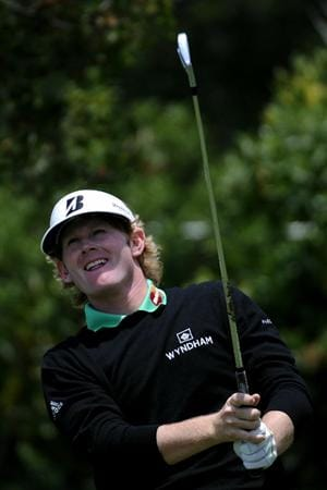 PEBBLE BEACH, CA - JUNE 19:  Brandt Snedeker watches his tee shot on the 16th hole during the third round of the 110th U.S. Open at Pebble Beach Golf Links on June 19, 2010 in Pebble Beach, California.  (Photo by Harry How/Getty Images)