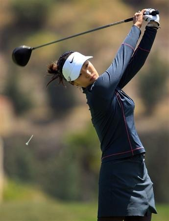 HUIXQUILUCAN, MEXICO - MARCH 21:  Grace Park of South Korea hits her tee shot on the 18th hole during the second round of the MasterCard Classic at the BosqueReal Country Club on March 21, 2009 in Huixquiucan, Mexico.  (Photo by Scott Halleran/Getty Images)
