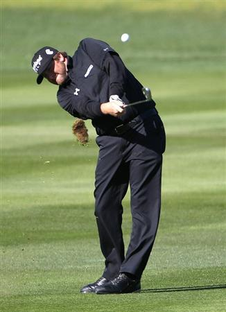 PEBBLE BEACH, CA - FEBRUARY 13:  Steve Marino hits from the 1st fairway at the AT&T Pebble Beach National Pro-Am- Final Round at the Pebble Beach Golf Links on February 13, 2011 in Pebble Beach, California.  (Photo by Jed Jacobsohn/Getty Images)