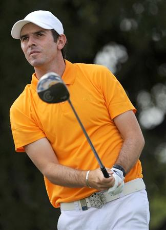 DORAL, FL - MARCH 14:  Thomas Aiken of South Africa hits on the 3rd hole during the third round of the World Golf Championships-CA Championship at the Doral Golf Resort & Spa on March 14, 2009 in Doral, Florida.  (Photo by Sam Greenwood/Getty Images)