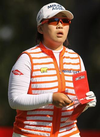CITY OF INDUSTRY, CA - MARCH 25:  Jiyai Shin of South Korea walks off the 14th tee during the second round of the Kia Classic on March 25, 2011 at the Industry Hills Golf Club in the City of Industry, California.  (Photo by Scott Halleran/Getty Images)