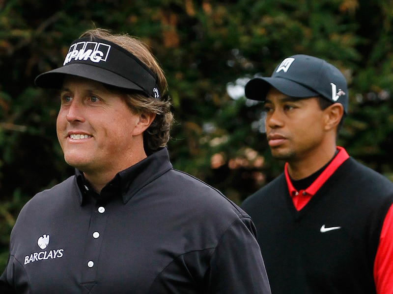 Woods falls to Mickelson Sunday at Pebble Beach