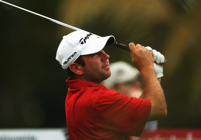 CHRISTCHURCH, NEW ZEALAND - MARCH 05:  Josh Teater of the USA tees off on the 9th hole during day two of the New Zealand PGA Championship held at the Clearwater Golf Club March 06, 2009 in Christchurch, New Zealand.  (Photo by Phil Walter/Getty Images)