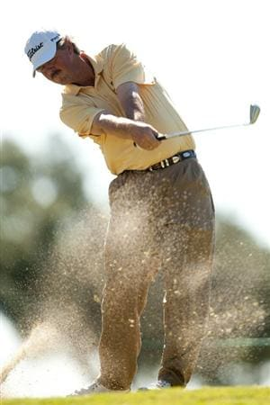 SAN ANTONIO, TX - OCTOBER 30: Jay Don Blake follows through on a tee shot during the second round of the AT&T Championship at Oak Hills Country Club on October 30, 2010 in San Antonio, Texas. (Photo by Darren Carroll/Getty Images)