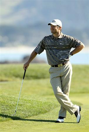 PEBBLE BEACH, CA - FEBRUARY 12:  Trevor Immelman waits to putt on the 17th hole during the third round of the AT&T Pebble Beach National Pro-Am at the Pebble Beach Golf Links on February 12, 2011 in Pebble Beach, California.  (Photo by Ezra Shaw/Getty Images)