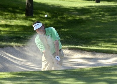 Tim Herron blasts out of the greenside bunker on the 14th hole during the third round of the Bank of America Colonial held at the Colonial Country Club on Saturday , May 20, 2006 in Ft. Worth, TexasPhoto by Marc Feldman/WireImage.com