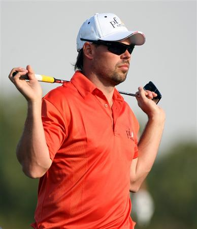 ABU DHABI, UNITED ARAB EMIRATES - JANUARY 17:  Mikael Lundberg of Sweden during the third round of the Abu Dhabi Golf Championship at the Abu Dhabi Golf Club on January 17, 2009 in Abu Dhabi, United Arab Emirates.  (Photo by Ross Kinnaird/Getty Images)