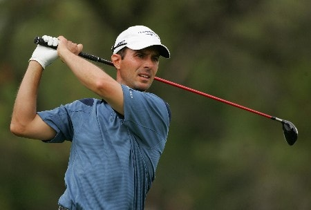 MIAMI - MARCH 22:  Mike Weir of Canada tees off on the fifth hole during the third round of the 2008 World Golf Championships CA Championship at the Doral Golf Resort & Spa, on March 22, 2008 in Miami, Florida.  (Photo by Warren Little/Getty Images)