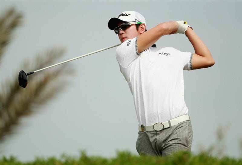 ABU DHABI, UNITED ARAB EMIRATES - JANUARY 23:  Seung-yul Noh of Korea in action during the final round of The Abu Dhabi HSBC Golf Championship at Abu Dhabi Golf Club on January 23, 2011 in Abu Dhabi, United Arab Emirates.  (Photo by Andrew Redington/Getty Images)