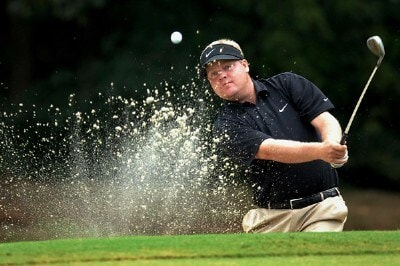 Carl Pettersson of Sweden hits from a bunker along the 16th green during the second round of the Wyndham Championship at Forest Oaks Country Club on August 17, 2007 in Greensboro, North Carolina. PGA TOUR - 2007 Wyndham Championship - Second RoundPhoto by Jonathan Ernst/WireImage.com