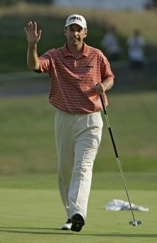 Kevin Sutherland during the second round of the Buick Championship at the Tournament Players Club at River Highlands in Cromwell, Connecticut on August 26, 2005.Photo by Michael Cohen/WireImage.com